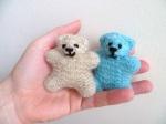 knitted teddies